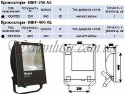 Прожектор металлогалогенный MHF-250 SK