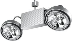 Светильник трековый BRILUX FUSIO E52H, G53, 2x50W, серебро арт. OT-FE52H5-73